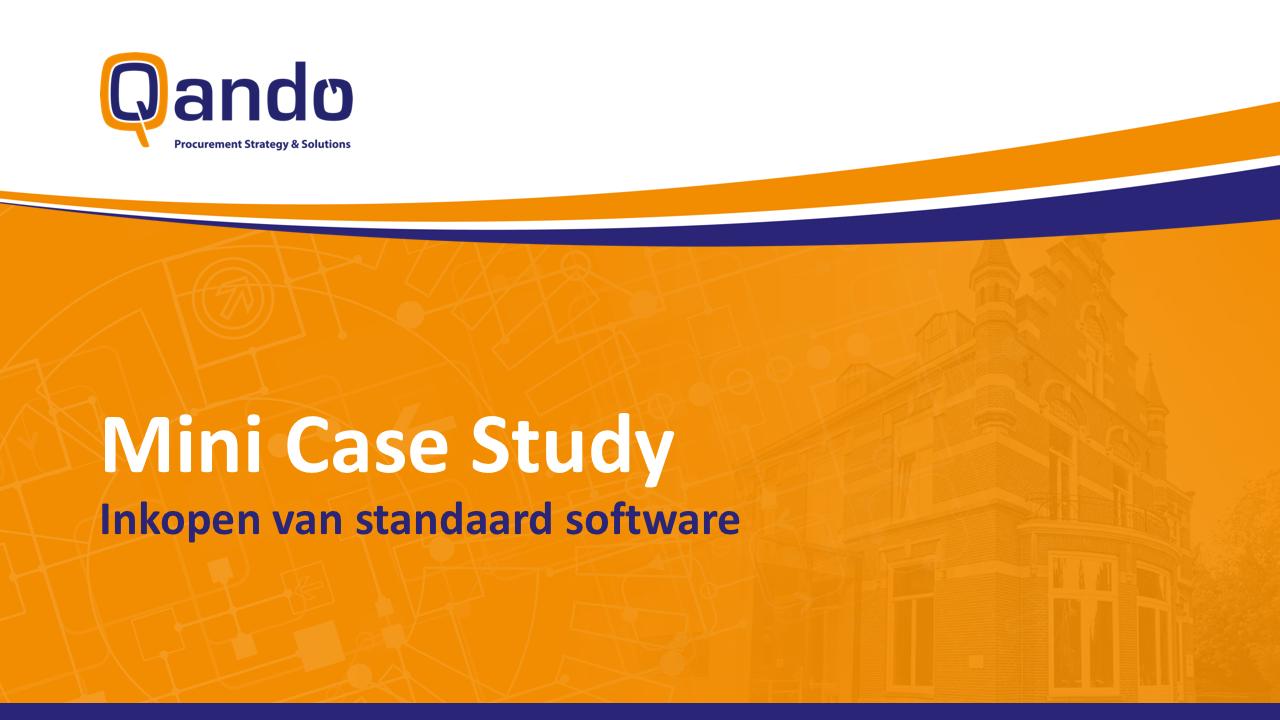 Qando | Mini Case Study - Inkopen van standaard software
